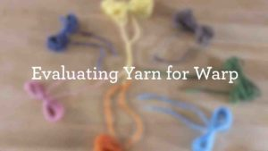 Evaluating Yarn for Warp