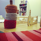 Project, Yarn, Loom--teaching