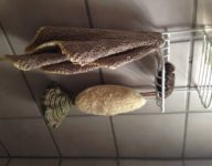 Bath Time! Handwoven pieces in my shower!