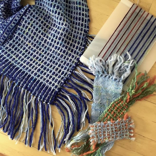 Sample swatches from A Weaver's Guide to Swatching by Liz Gipson