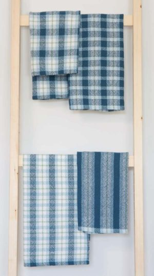 Four Looks Towels from Handwoven Home by Liz Gibson