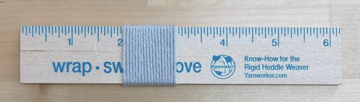 Use wraps-per-inch to estimate a balanced plain weave sett