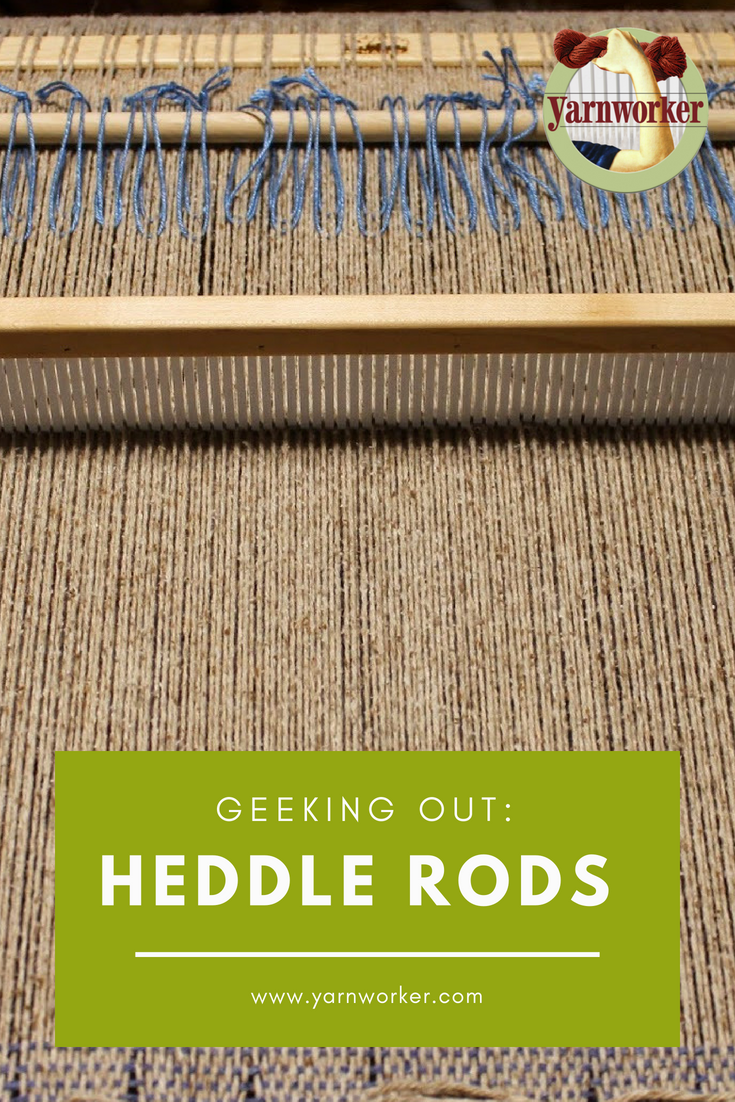 A heddle rod allows the weaver to pick-up multiple warp ends, but the rod/loop combo won't interfere with other pick-up stick/rods placed in the warp already.