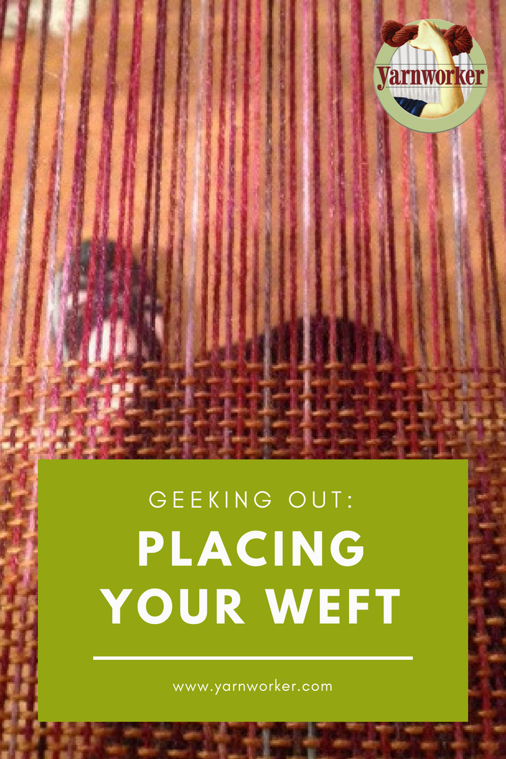 "In weaving we talk about ""beating your yarn"" a lot. This phrase can send the wrong message. It refers to what most of us think of as ""weaving"", using the rigid-heddle to press the weft into place. Perhaps a more accurate instruction is to ""place the weft"". Beating too hard means you end up with fabric that feels like cardboard."