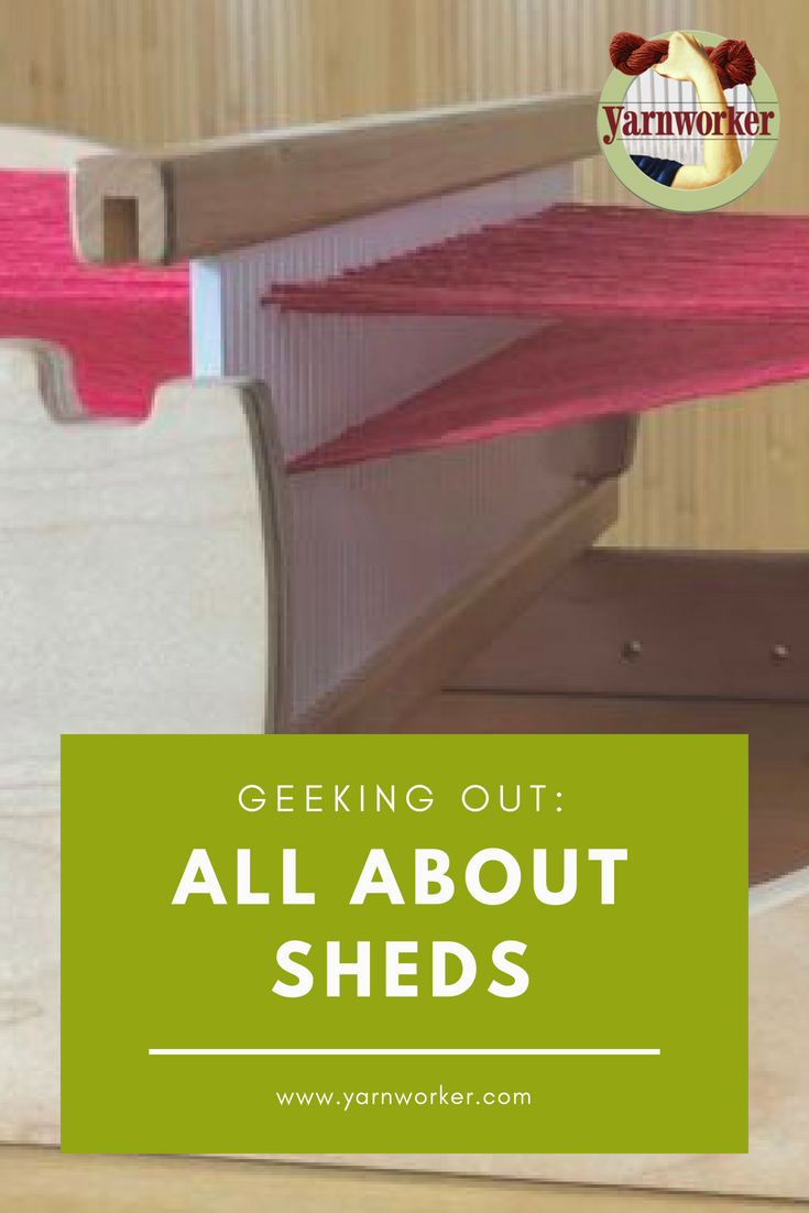 "A shed is the opening created when you lift or lower the heddle, creating a space to place the weft. The term is a variant of an Old English word that means ""to set apart"". In weaving, there are many different kinds of sheds."