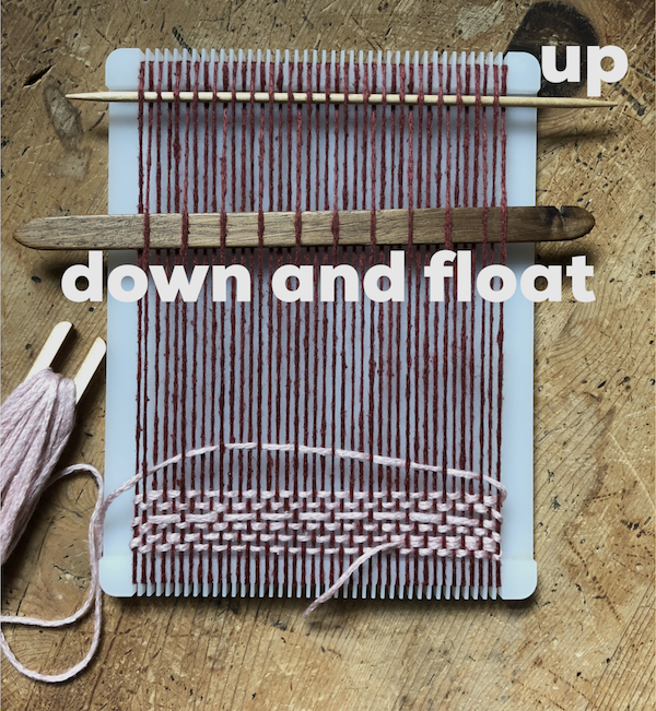 swatch on the loom