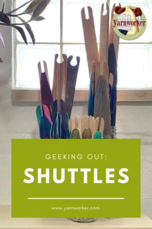 Geeking out over shuttles for weaving