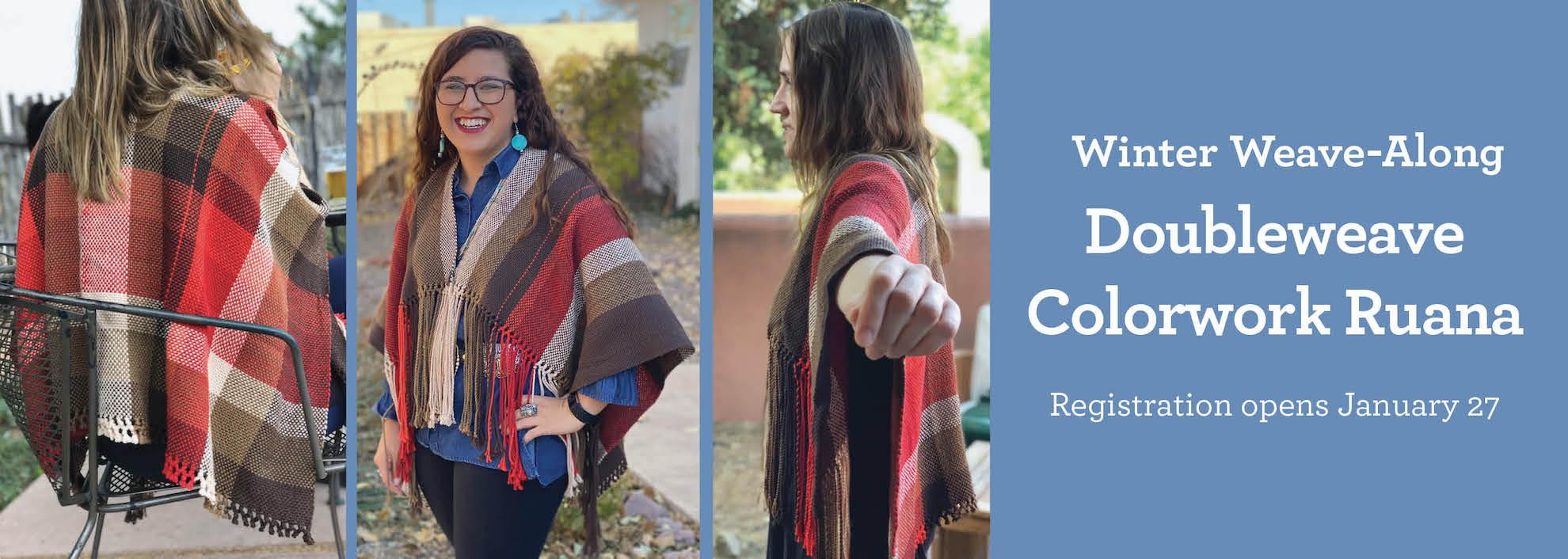 Winter Weave-Along Doubleweave Colorwork Ruana