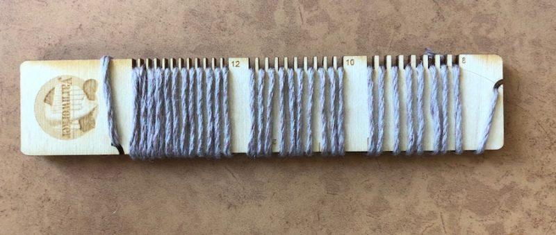 sett checker with DK weight yarn