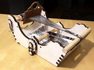 a laser cut box loom featured in Make Magazine
